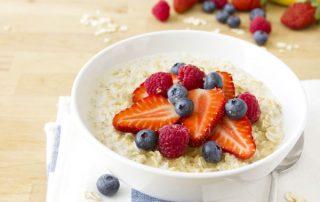 Fresh fruit porridge